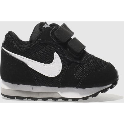 Nike Black & White Md Runner 2 Trainers Toddler