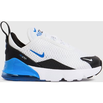 Nike White & Blue Air Max 270 Trainers Toddler