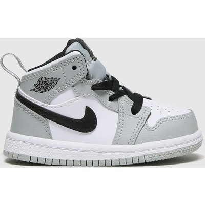 Nike Jordan Light Grey Air Jordan 1 Mid Trainers Toddler