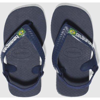 Havaianas Navy Brasil Logo Sandals Toddler