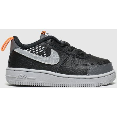 Nike Black & Grey Air Force 1 Lv8 2 Trainers Toddler