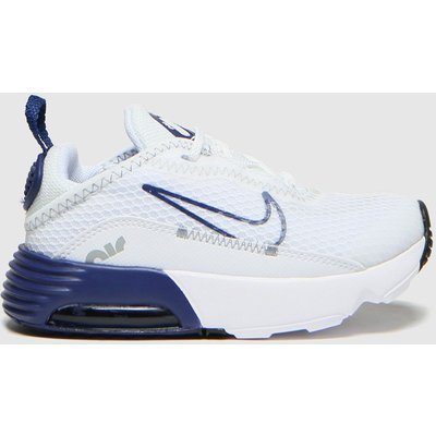 Nike White & Navy Air Max 2090 Trainers Toddler
