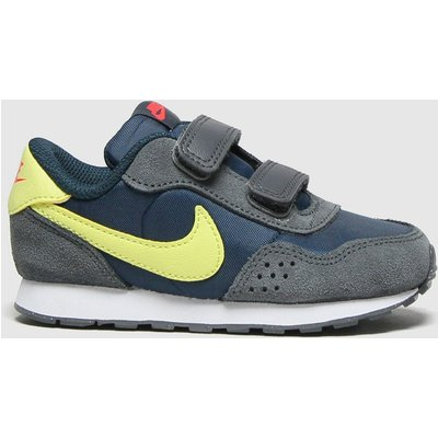 Nike Navy & Lime Md Valiant Trainers Toddler