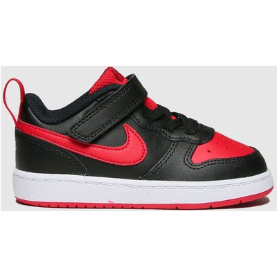 Nike Black & Red Court Borough Low 2 Trainers Toddler