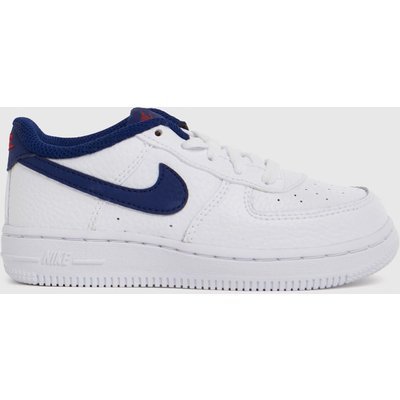 Nike White & Navy Air Force 1 Trainers Toddler