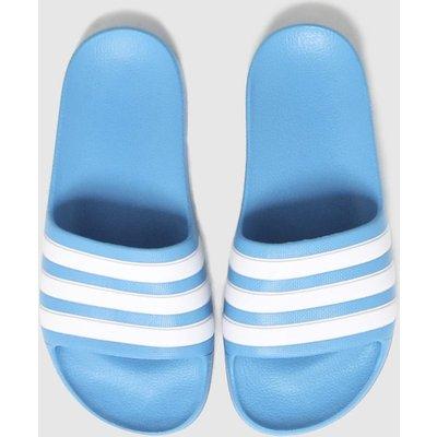 Adidas Blue Adilette Aqua Sliders Junior