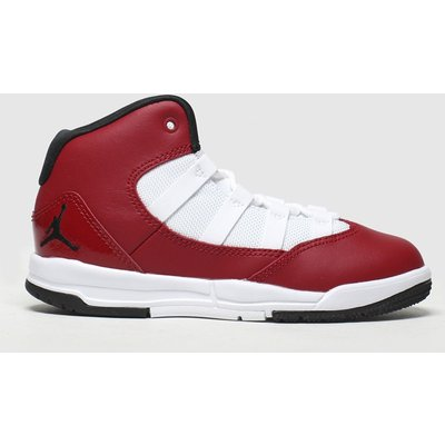 Nike Jordan White & Red Max Aura Trainers Junior
