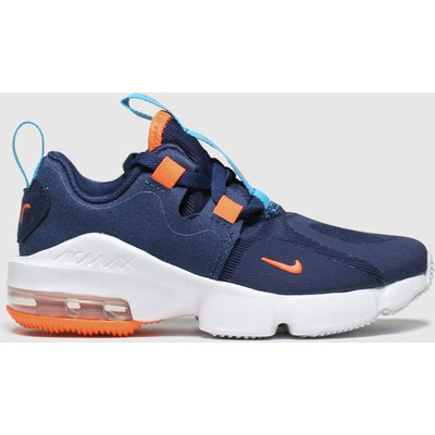 Nike Navy & Orange Air Max Infinity Trainers Junior