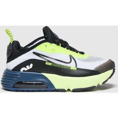 Nike White & Black Air Max 2090 Trainers Junior