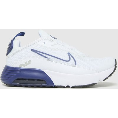 Nike White & Navy Air Max 2090 Trainers Junior