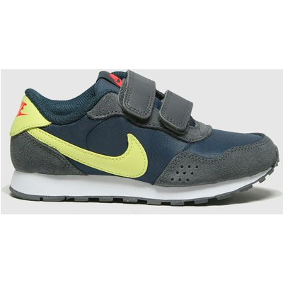 Nike Navy & Lime Md Valiant Trainers Junior