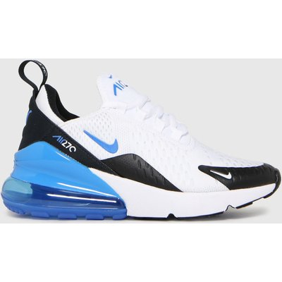 Nike White & Blue Air Max 270 Trainers Youth