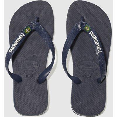 Havaianas Navy Brasil Logo Sandals Youth