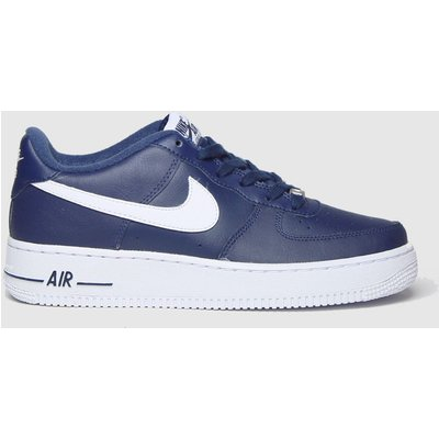 Nike Navy & White Air Force 1 Trainers Youth