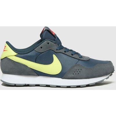 Nike Navy & Lime Md Valiant Trainers Youth