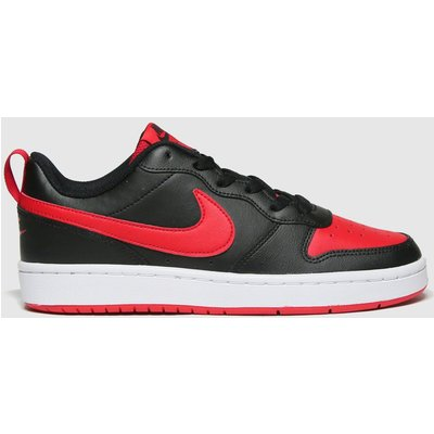 Nike Black & Red Court Borough Low 2 Trainers Youth