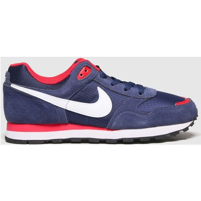 Nike Navy & Red Md Runner Trainers Youth