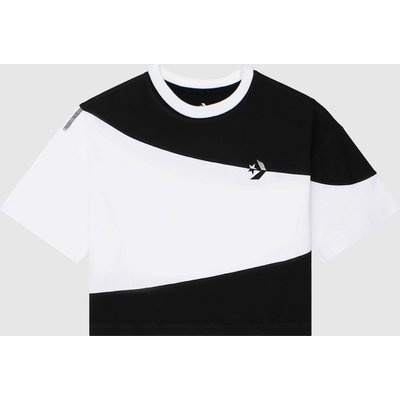 Clothing Converse Black & White Rivalry Cut & Sew Os Crop