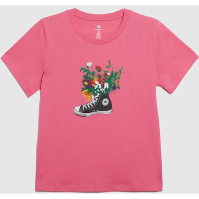 Clothing Converse Pale Pink In Bloom Graphic Tee