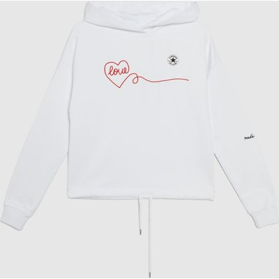 Clothing Converse White & Red Love Hoodie