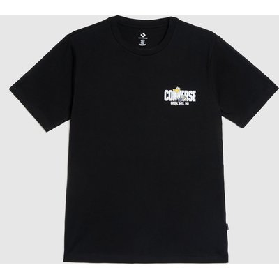 Clothing Converse Black & White Street Runner Graphic Tee