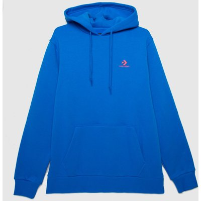 Converse Blue Embroidered Fleece Hoodie