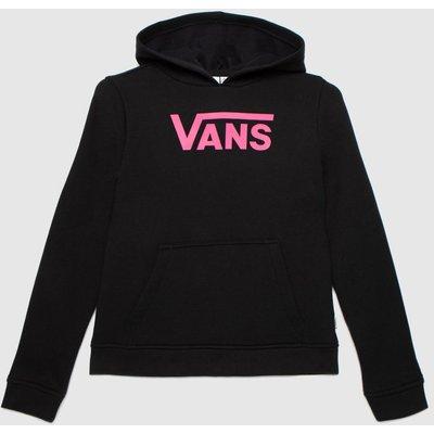 Vans Black & Pink Girls Flying V Hoodie