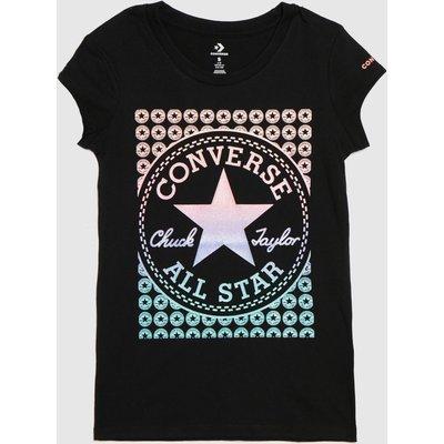 Converse Black & Pink Girls Ss Chuck Patch