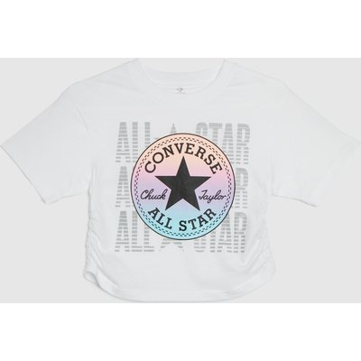Clothing Converse White & Pink Cons Girls Ruched Boxy Ombre