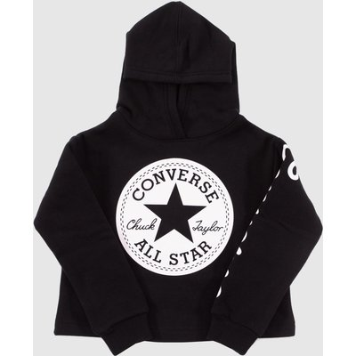 Clothing Converse Black & White Kids Chuck Patch Hoodie