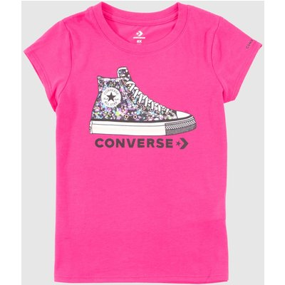 Clothing Converse Pink Kids S/s Ct Graphic