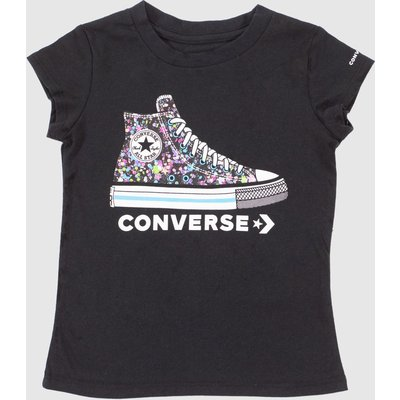 Clothing Converse Black Kids S/s Ct Graphic