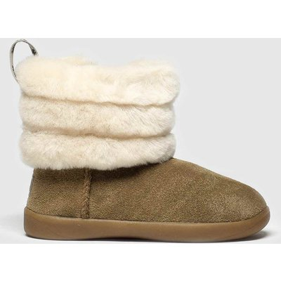 UGG Tan Fluff Mini Quilted Boots Toddler