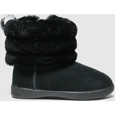 UGG Black Fluff Mini Quilted Boots Toddler