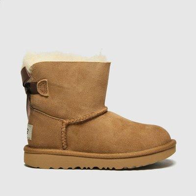 UGG Tan Mini Bailey Bow Ii Boots Toddler