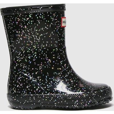 Hunter Black First Giant Glitter Boots Toddler