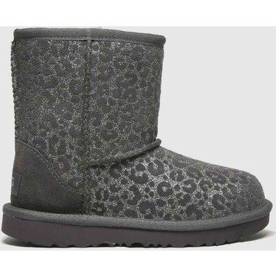 UGG Dark Grey Classic Ii Glitter Leo Boots Toddler