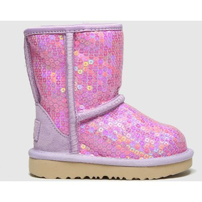 UGG Lilac Classic Ii Sequin Boots Toddler