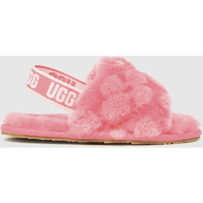 UGG Pink Fluff Yeah Poppy Slippers Toddler