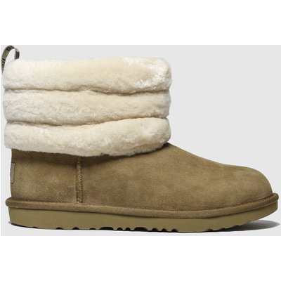 UGG Tan Fluff Mini Quilted Boots Junior