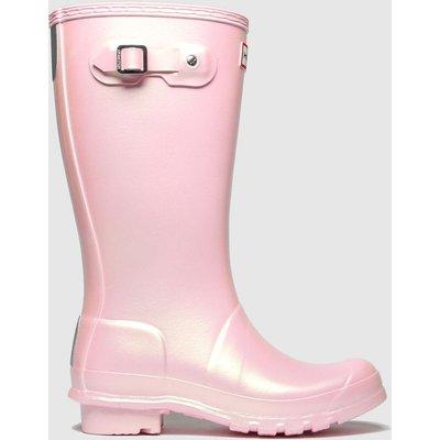 Hunter Pale Pink Original Nebula Boots Junior