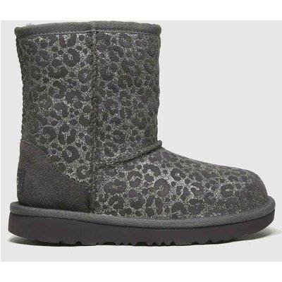 UGG Dark Grey Classic Ii Glitter Leo Jnr Boots Junior