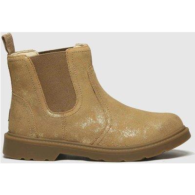 UGG Gold Bolden Metallic Boots Junior