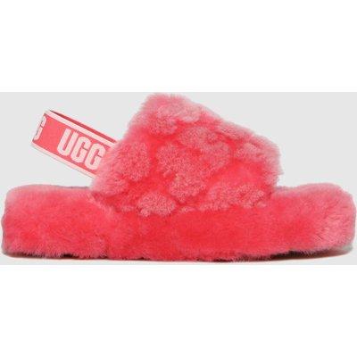 UGG Pink Fluff Yeah Poppy Slippers Junior