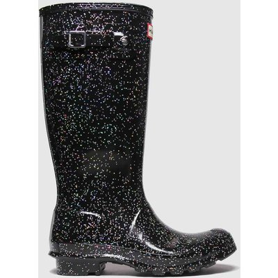 Hunter Black Giant Glitter Boots Youth