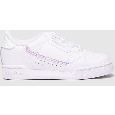 Adidas White & Silver Continental 80 Trainers Toddler