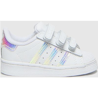 Adidas White & Silver Superstar 3v Trainers Toddler