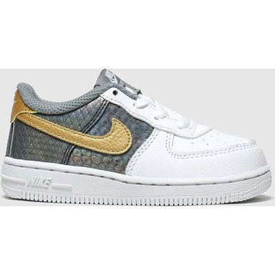 Nike White & Grey Air Force 1 Se Trainers Toddler