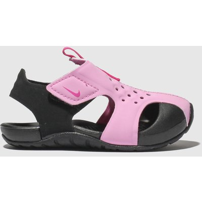 Nike Black & Pink Sunray Protect 2 Sandals Toddler