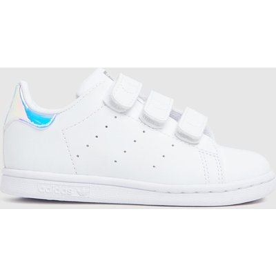Adidas White & Silver Stan Smith 2v Trainers Toddler